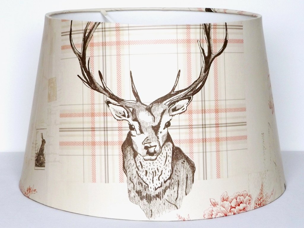 Stag lampshade ceiling light shade large 13 antlers rustic woodland stag lampshade ceiling light shade large 13 antlers rustic woodland deer hare rabbit hedgehog tartan highland scottish scotland themed bedroom room decor mozeypictures Gallery