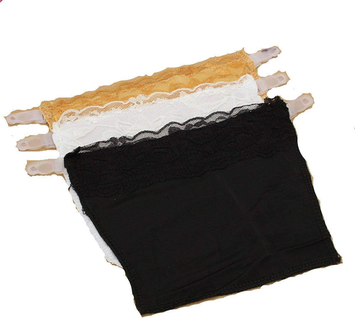 Cami Secret Clip On Mock Camisole 3Pcs//set Quick Easy Bra Lace Clip on Camisoles