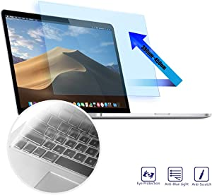 MacBook Pro 13 Screen Protector - Anti Blue Light Anti Glare Filter for 2015-2012 Old Apple MacBook Pro 13 Model A1425 A1502, Eye Protection Screen Protector With Ultra Thin Keyboard Cover