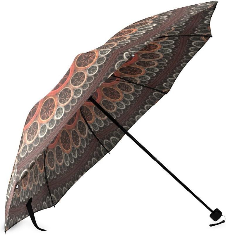 Custom Hippie Hippy Mandala Compact Travel Windproof Rainproof Foldable Umbrella