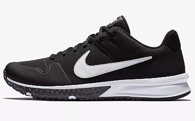 cf32ccee38f Nike Men s Alpha Huarache Varsity Turf Shoe Black White Thunder Grey Size  15 M