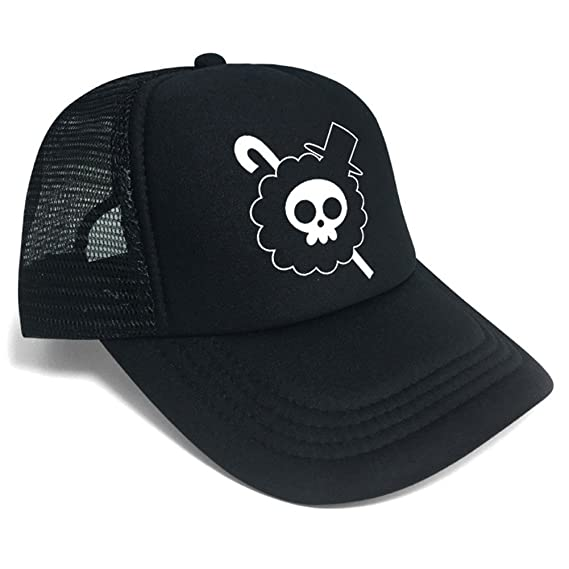 Gumstyle One Piece Brook Anime Cosplay Baseball Cap Trucker Sun Hat Unisex d4ce2ac1325