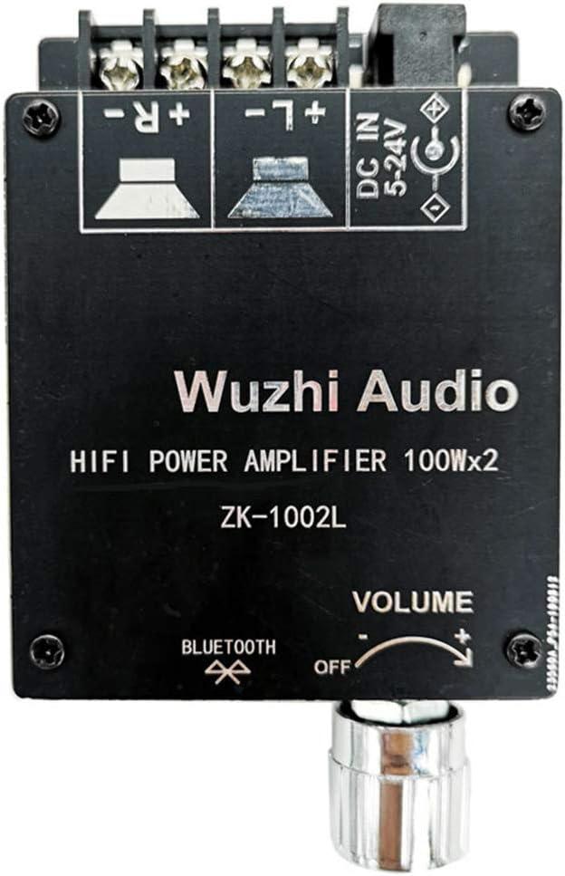 ORETG45 Placa amplificadora uetooth 5.0 Inalámbrico 100wx2 Chip Audio Estéreo Universal Módulo Sonido Estable Circuitos Integrados Alta Potencia Teatro en casa Ajustar Volumen Digital