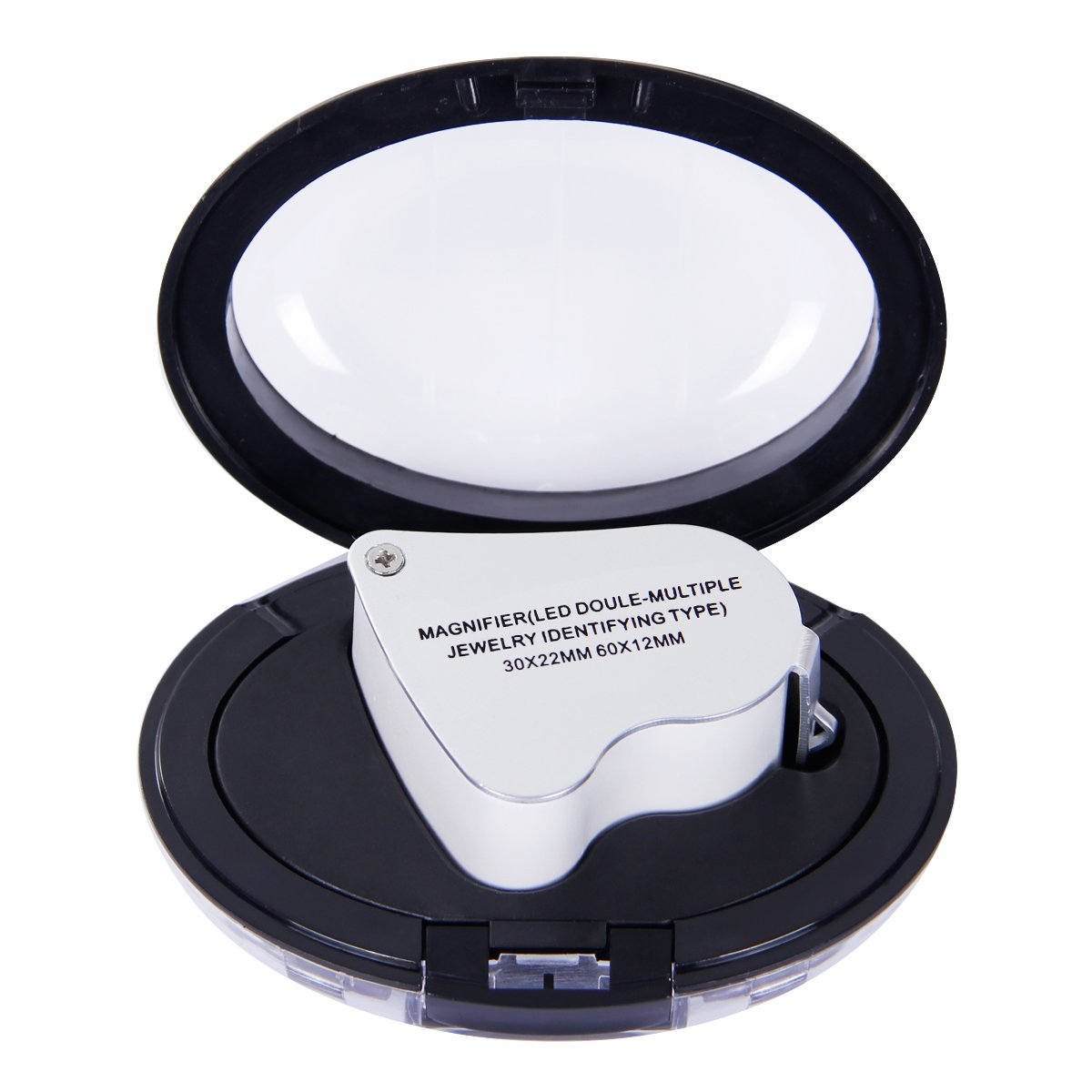 Tonor Doble lentes 60X 30X 2in1 Lupa de Ojos para Joyeros lente de la lupa W / luz LED: Amazon.es: Instrumentos musicales