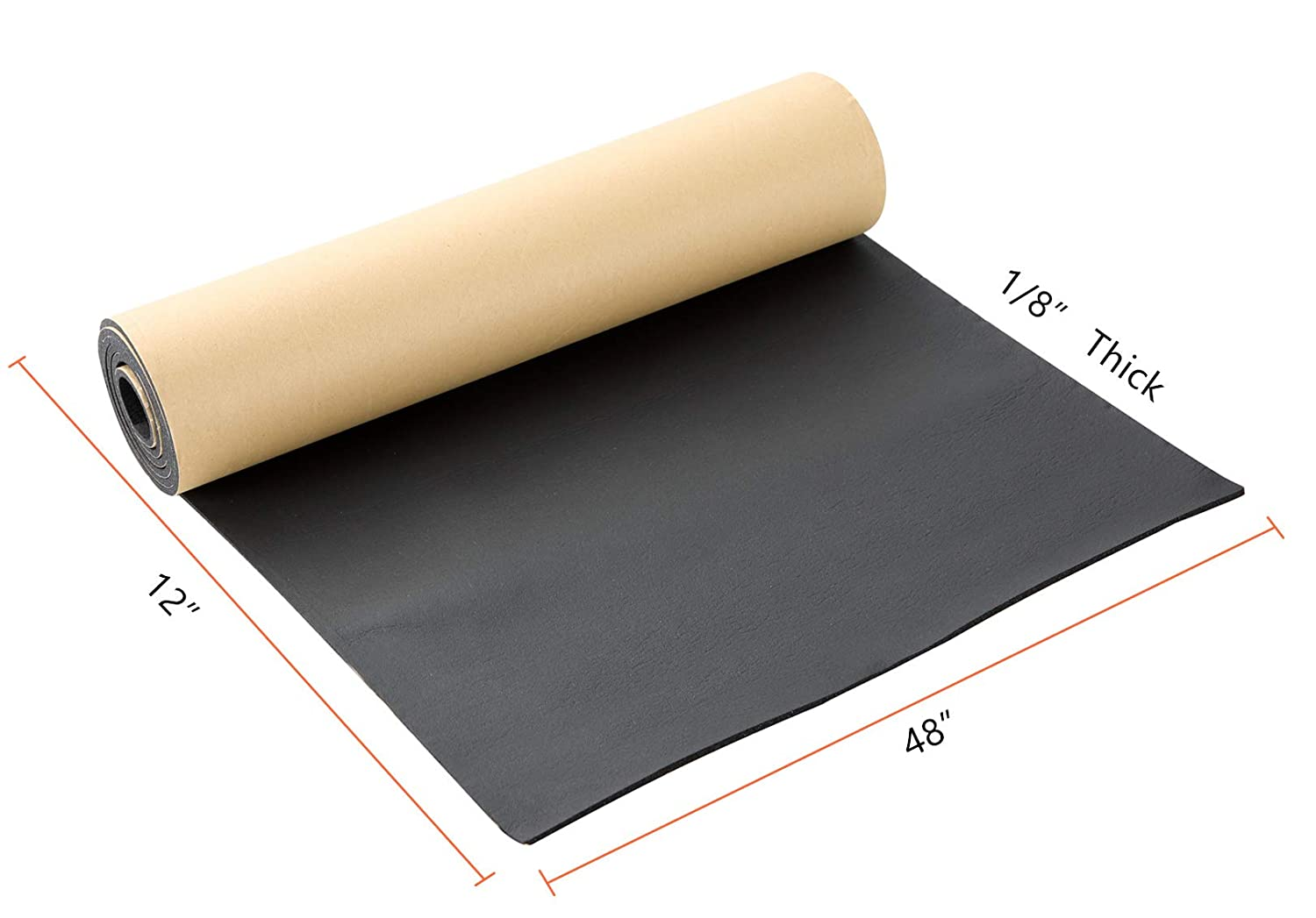 "Closed-Cell Silicone Sponge mats 19/"" x 12/"" x 1//8/"""