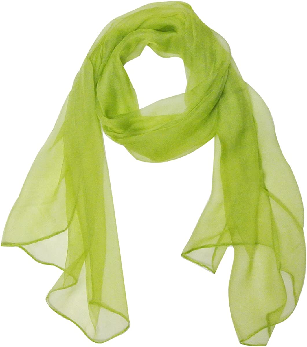 Wrapables Solid Color Silk Long Scarf