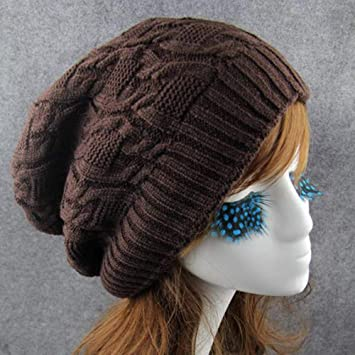 Zamoufm Knit Pile Beanie Hat Gorras Mujeres Hombres Solid ...