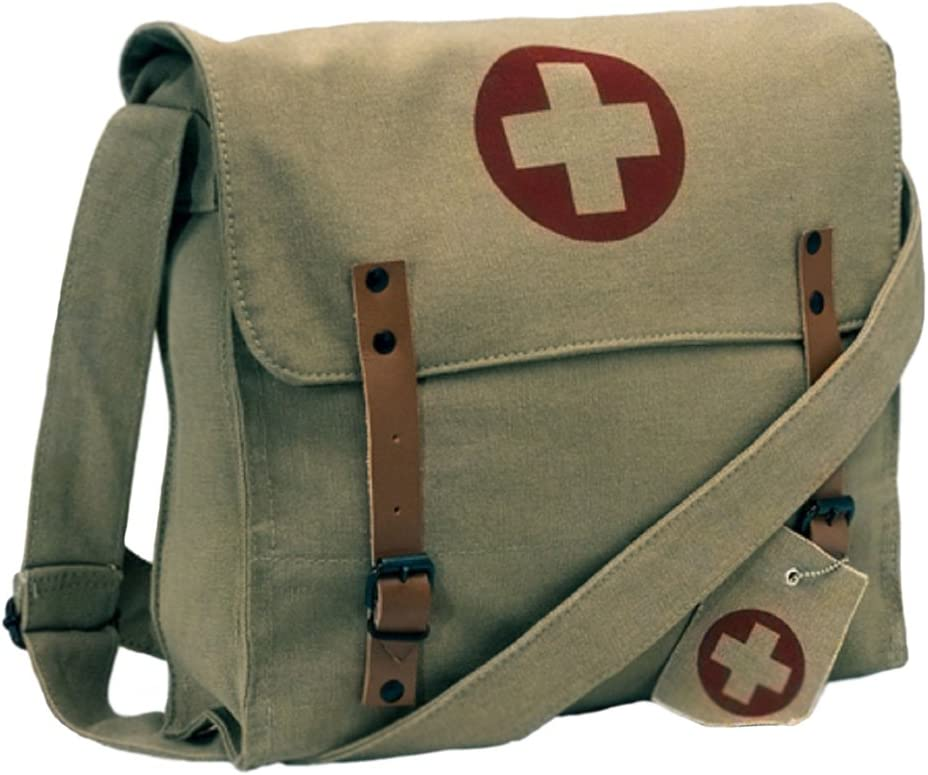 B00IFDFI06 Khaki Vintage Army Red Cross Medic Shoulder Messenger Bag 61f2YxOIrcL