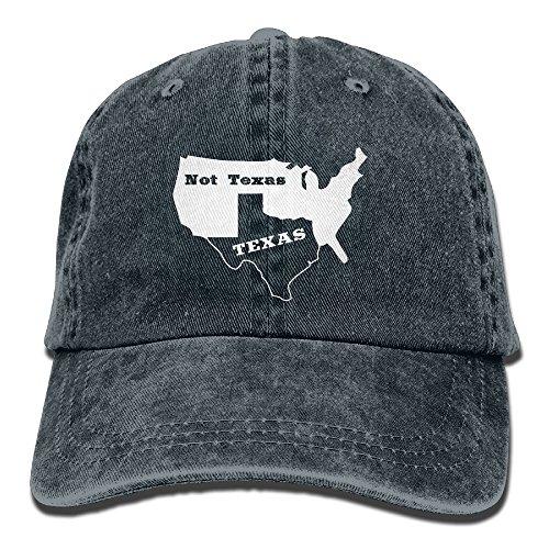 Texas Not Texas Secede Austin Dallas Oil Longhorn Unisex Adjustable Cotton Denim Hat Washed Retro Gym Hat FS&DMhcap Cap (Costumes Austin Texas)