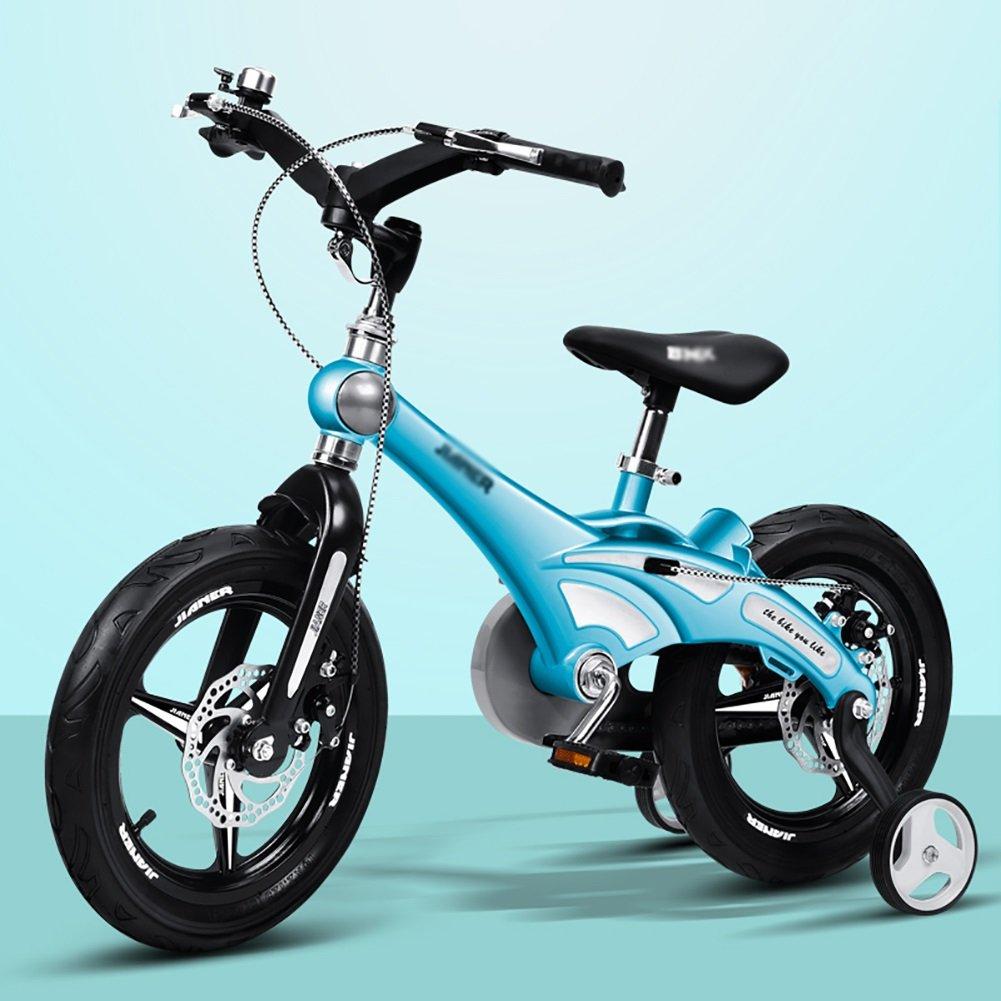 子供の自転車の少年少年12 14 16インチベビーカーの2-3-6歳の子供の自転車ゴールドイエローブルーピンク B07DXFS6M1 16 inch|青 青 16 inch