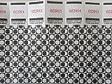 500 Optical Checkered Dot Tyvek Wristbands, 3/4'' Event Identification Bands (Black)