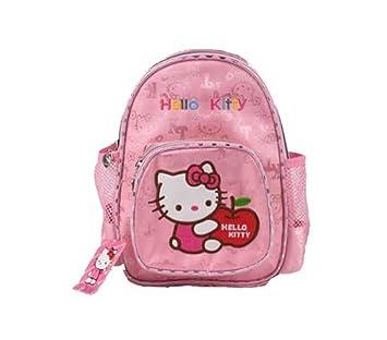 78b29dd69803 Hello Kitty Mini Pink School Bag for Girls Kids Children plus FREE BADGES   Amazon.co.uk  Sports   Outdoors