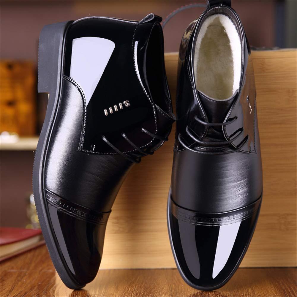 XHD-Schuhe 2018 Männer Oxfords Casual SAMT weiche High Top High-End-PU-Leder SAMT Casual warme Schuhe (Farbe   Warm schwarz, Größe   43 EU) bd7c42