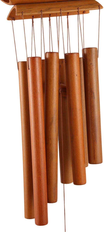 Carillon en Bambou /à la Main Anneau Naturel d/écor /à la Maison Carillon /à Vent Suspendu Ornement ext/érieur Cour Vent Cloche Carillons /à Vent