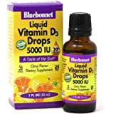 Bluebonnet Nutrition Liquid Vitamin D3 Drops 5000 IU, Aids in Muscle and Skeletal Growth, D3, Non GMO, Gluten Free, Soy…