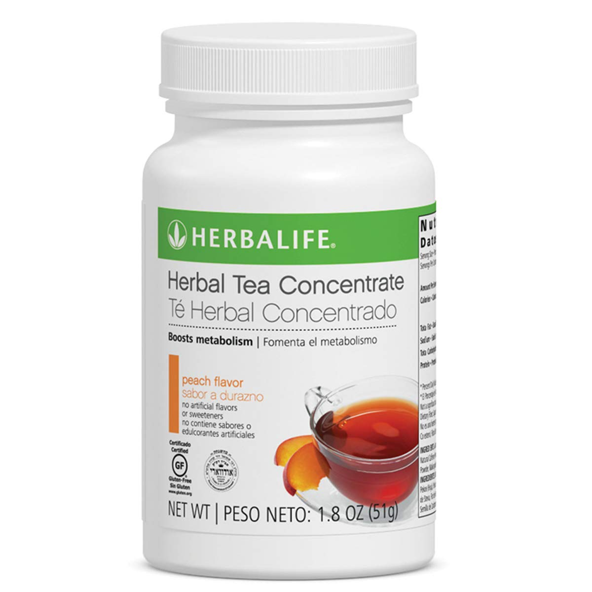 Weight Management Herbal Concentrate Tea Peach Flavor 1.8 Oz