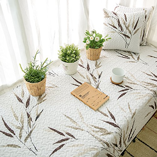 AMYDREAMSTORE Non-Slip Tatami Mat Rugs Retro Bay Window Cushion Cover Seats sill pad Cotton for Living Room Bedroom-B 70x210cm(28x83inch)