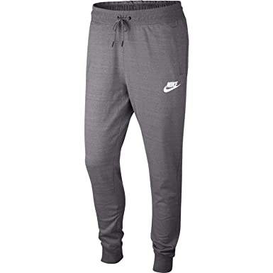 0fcb3716e179 Nike Mens AV15 Jogger Knit Pants Gunsmoke Heather White AQ8393-036 Size  Small