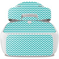 Skin For DJI Goggles – Turquoise Chevron | MightySkins Protective, Durable, and Unique Vinyl Decal wrap cover | Easy To Apply, Remove, and Change Styles | Made in the USA