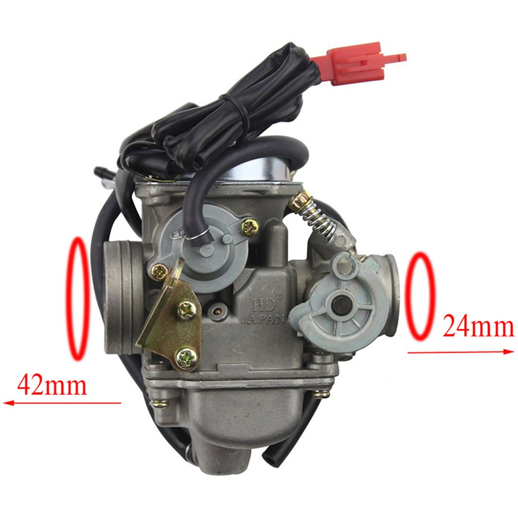 Goofit Pd24j Carburetor For Gy6 150cc Atv Scooter 157qmj Pin Keihin Cvk Diagram On Pinterest Engine Automotive