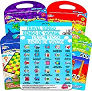 Travel Games Super Set ~ Travel Bingo, Checkers, Tic Tac Toe, Snakes & Ladders, and More Magnetic Travel Games for Kids