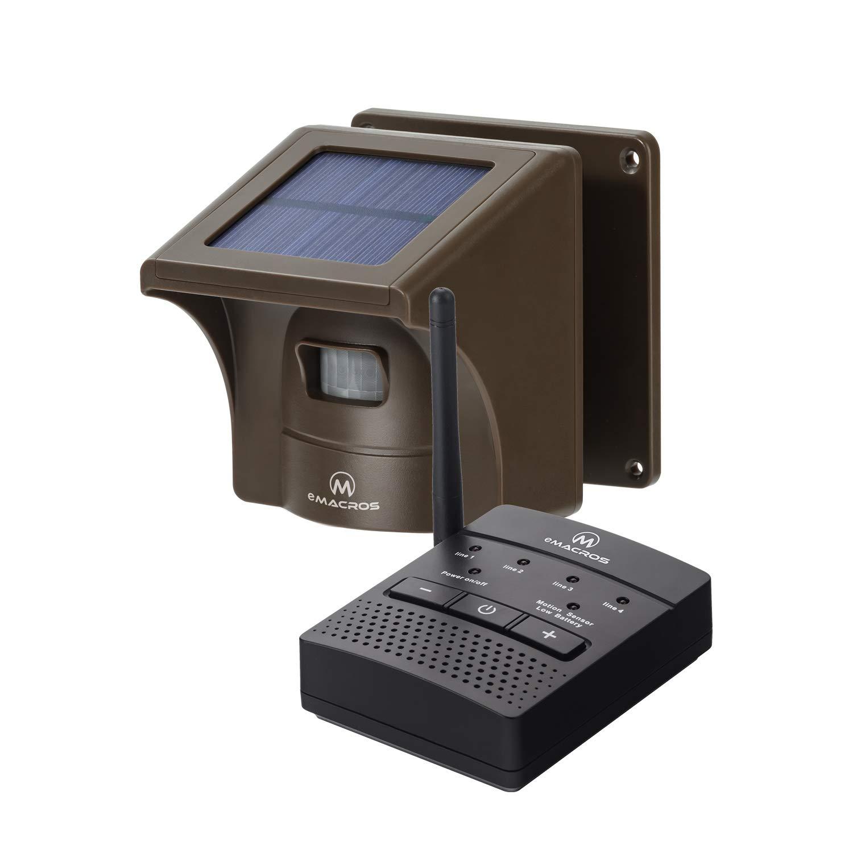 1/4 Mile Solar Driveway Alarm Sytem Wireless Long Range Outdoor Weather Resistant Motion Sensor & Detector- NO DIY Security Alert System- Monitor & Protect(1 Receiver 1 Sensor)