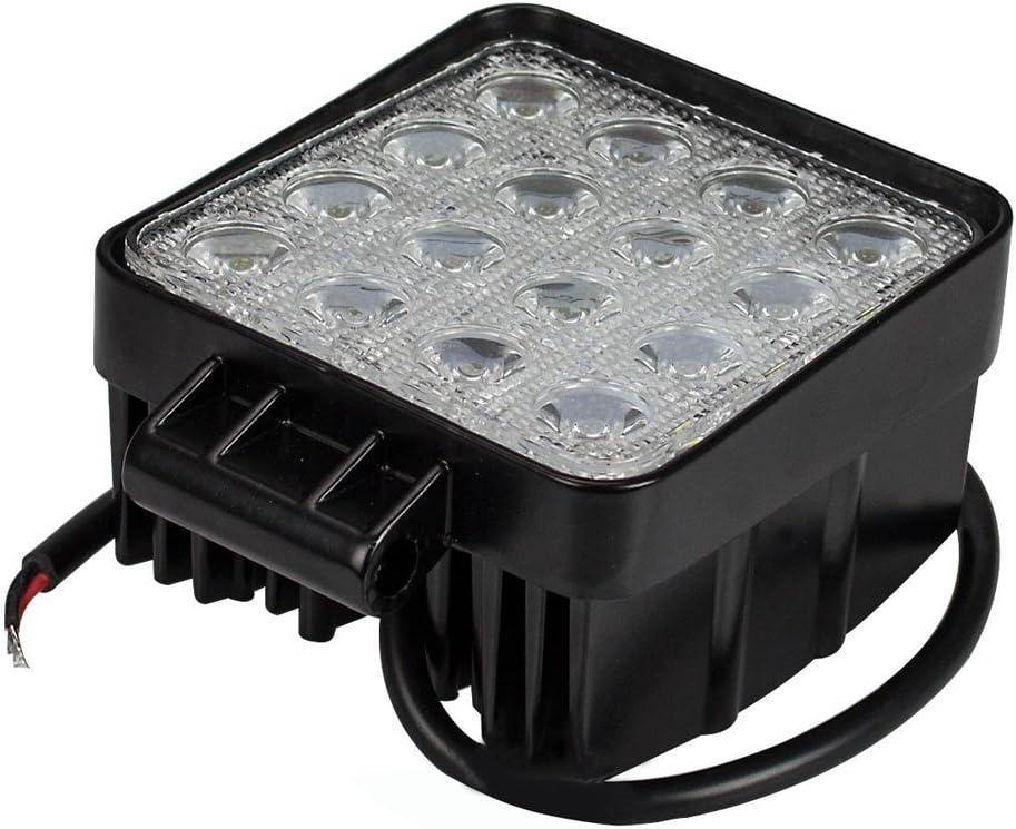 Leetop 18W 6-LEDs Inundaci/ón Haz Foco Luz de Trabajo Offroad Coche Cami/ón Tractor Barco ATV SUV 4WD 12V 24V