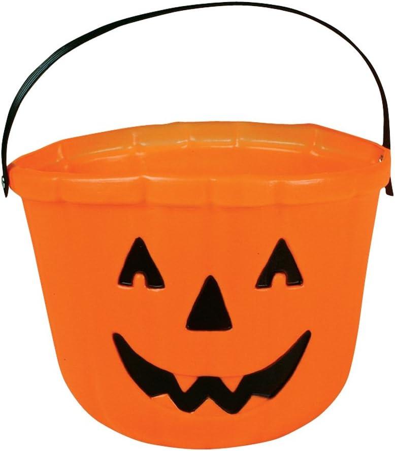 Amazon Com One Orange Plastic Pumpkin Jack O Lantern Design Trick