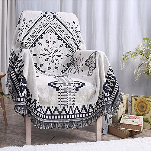 FabricMCC Throw Blanket, Southwest African Aztec Tribal Pattern Home Office Decor Throw Blanket for Bed Couch Sofa Chair, 51 by 63-Inch ()
