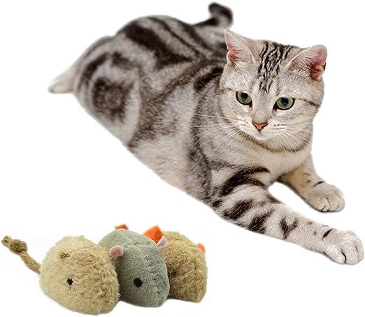 OCHO8 Juguete del ratón del algodón-Ramie para los Gatos, 3 Ratones.: Amazon.es: Productos para mascotas