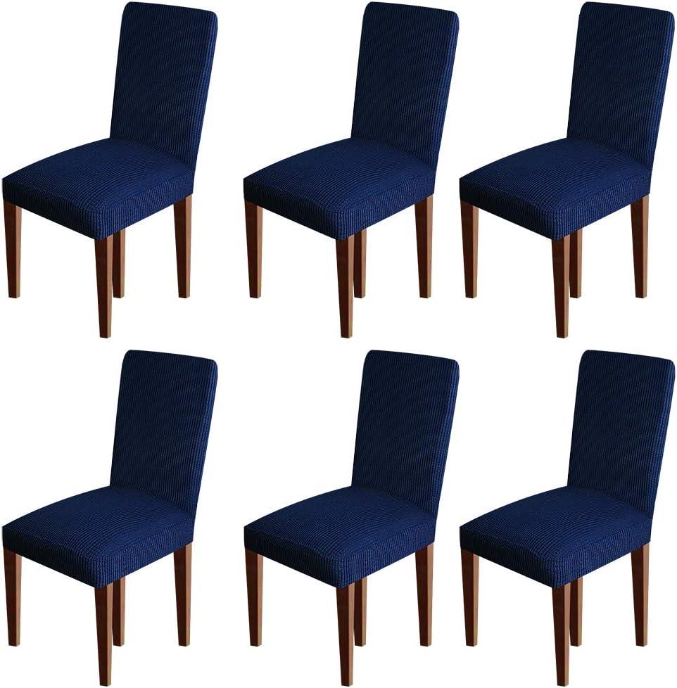 Fodere per sedia in spandex per sala da pranzo Coprisedie morbide per sedie da pranzo Set di 6