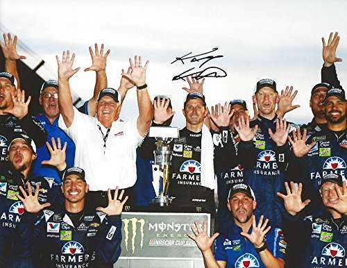 AUTOGRAPHED 2017 Kasey Kahne #5 Farmers Insurance Racing BRICKYARD INDY RACE WIN (Victory Lane Celebration) Hendrick Motorsports Signed Collectible Picture NASCAR 9X11 Inch Glossy Photo with COA