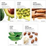 The Face Shop Unisex Glowing Masksheet Combo (Pack of 5)