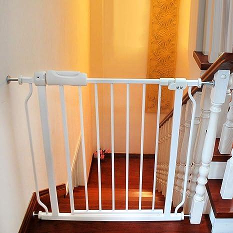 SuRose Puertas Extra Anchas para bebés para Puertas de escaleras, Montaje a presión, Puerta de Metal Blanco para Mascotas con Puerta de Gato/Perro, 61-265.9cm (Tamaño: 242-253.9cm): Amazon.es: Deportes y aire libre