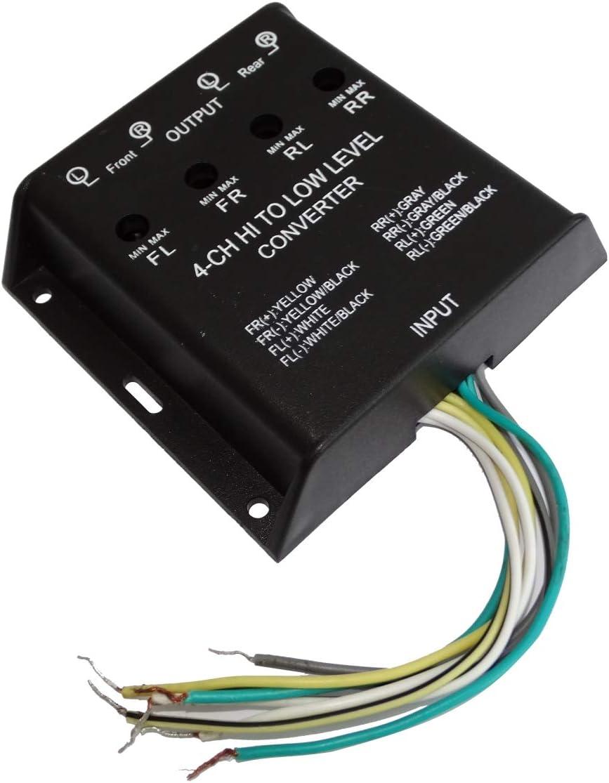 Aerzetix Adapter Für Signalverstärker 40 W Für Autoradio Lautsprecher Subwoofer Auf Cinch Verstärker C42168 Auto