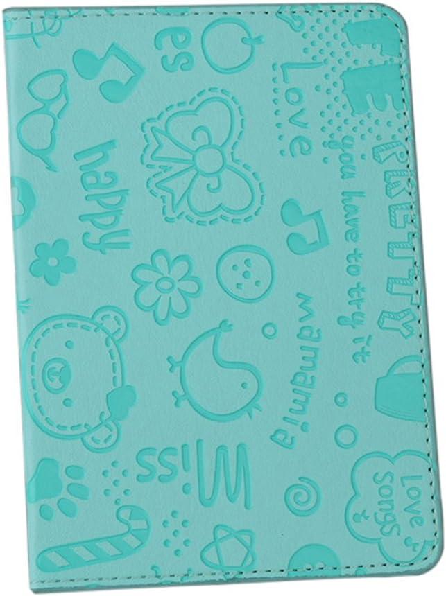 Cute Cartoon Pattern Travel Passport Holder ID Credit Card Case Cover Organizer/ Rose Red liyhh