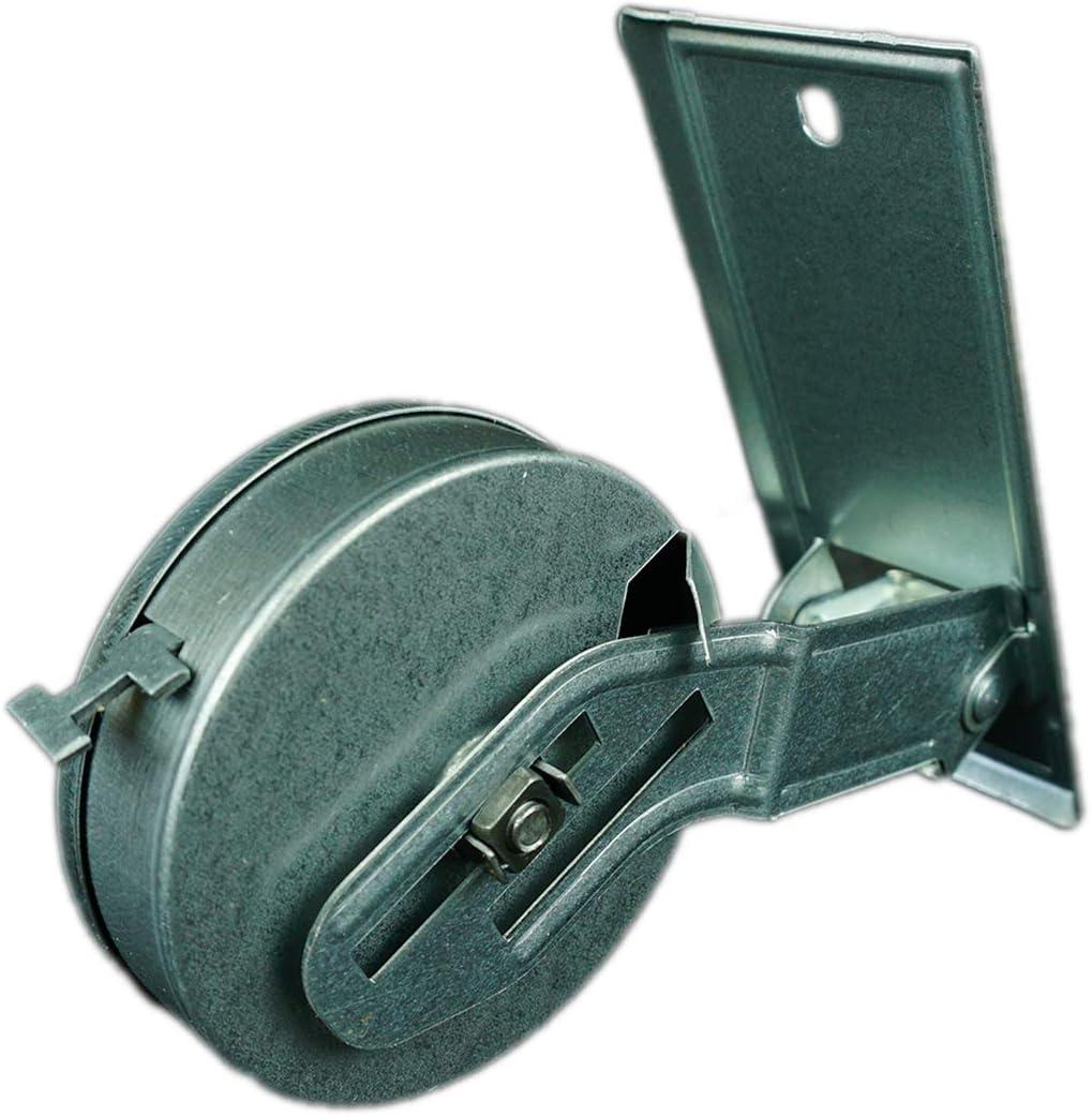 Rollwin 10x Rolladen Gurtwickler Unterputz Lochabstand 105mm mit Gurtwicklerblende Wei/ß f/ür 6m Gurt 23mm Maxi Rollo