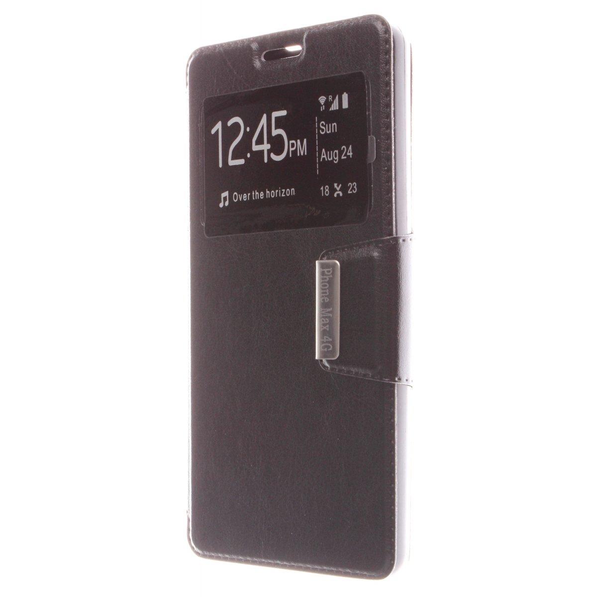 MISEMIYA - Funda Energy Phone MAX 4G - Funda Solo, Libro View Sporte,Negro
