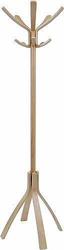 Alba Wooden Floor Coat Stand, Light Brown