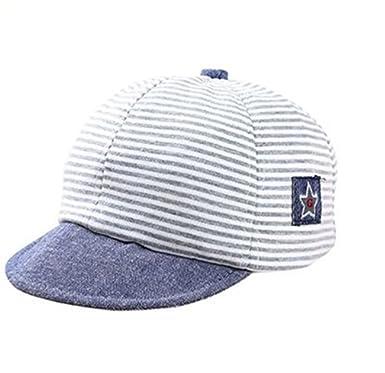 522f8708ae3 Baby Baseball Cap Infant Toddler Cotton Hat Stripe Sun Protection Brim Hats  Kids Little Girl Boys