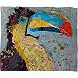 Deny Designs Elizabeth St Hilaire Nelson Toucan Dance Fleece Throw Blanket, 30 x 40