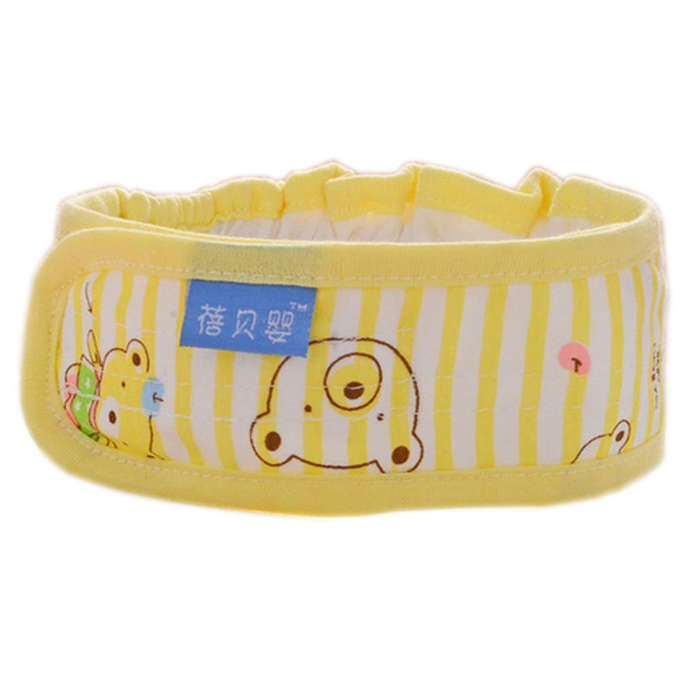 3Pcs Lovely Bear Newborn Baby Diaper Fasteners Comfortable Cotton Nappy Fixed Belt, Yellow by PANDA SUPERSTORE