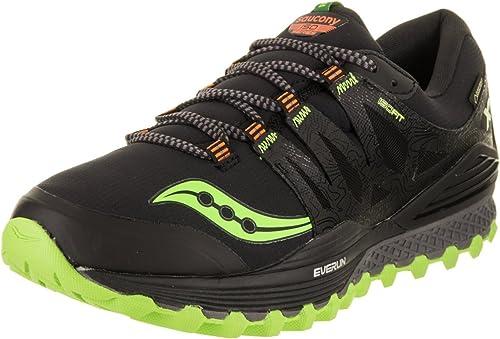 Saucony Hombre Xodus ISO GTX Zapatillas de Deporte, Black/Slime ...