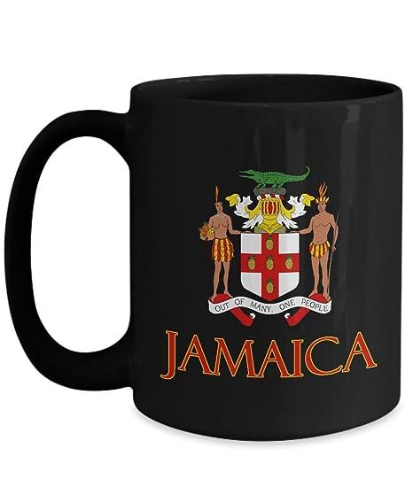 Amazon Com Jamaica Jamaican Coat Of Arms Design Ceramic Coffee