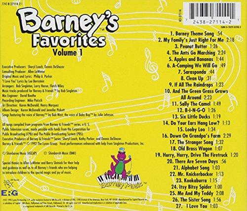 Original album cover of Barney's Favorites Vol. 1 by Barney