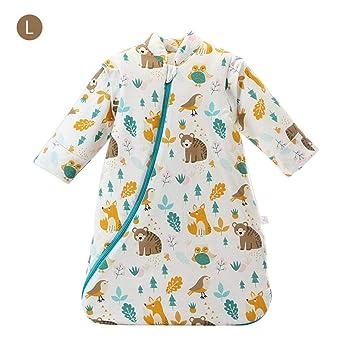 Per Saco de Dormir para Bebés de Invierno con Mangas Desmontables Pijamas para Bebés de 1-3 Años: Amazon.es: Hogar
