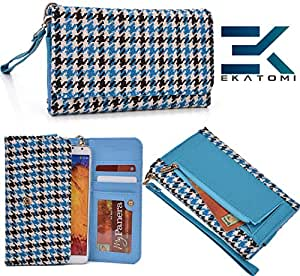 Wallet Phone Clutch Cover Phone Case- BLACK BABY BLUE | Maxx MSD7 3G-AX51 Ekatomi Screen Cleaner &153;