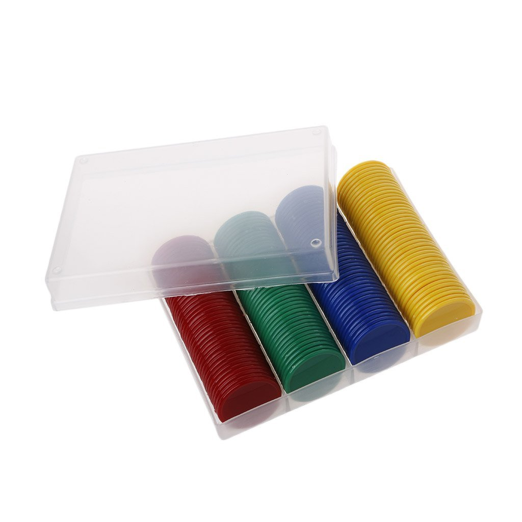 Forgun 160Pcs Plastic Bingo Chips Markers For Bingo Game Counters Games Education Tools