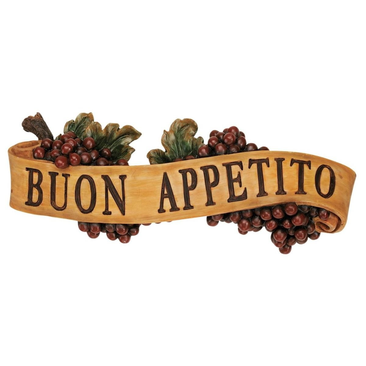 Design Toscano Abbondanza: Buon Appetite Sculptural Wall Plaque AH231111-Parent