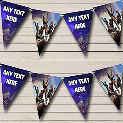 amazon com fortnite game personalized birthday party bunting banner